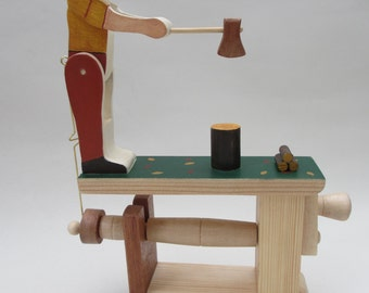 Wood Chopper Automaton