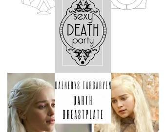 Daenerys Targaryen Qarth Breastplate Armor Pattern (PDF download) US Letter & A4 Sizes