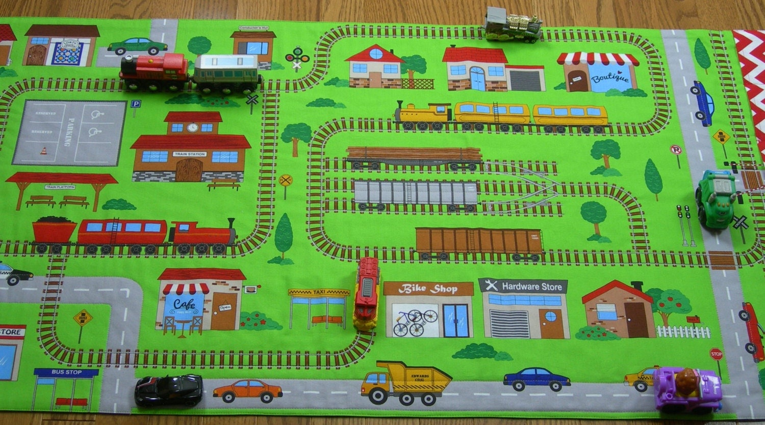 Train Play Mat Connectable Play Mat