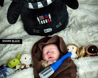 HUGE SALE 20% off!!!  use code 20PER, Newborn Jedi Robe, Star Wars, Baby, Receiving Blanket