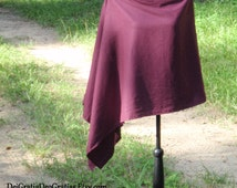 Pure Linen Poncho // Shawl // {Wine} many colors to choose from//Modest Attire// Nursing