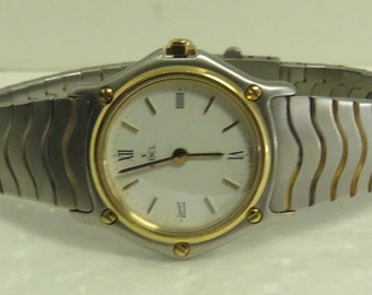 "Vintage Estate EBEL Gold Bezel Quartz 6.5"" Wrist Watch."