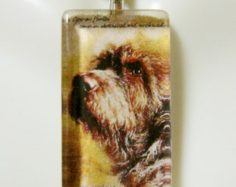 German wire haired pointer pendant and chain - DGP12-024