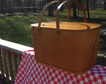 Take Your Meals Outdoors! Pack Them Up in a  Redmon Woven Picnic Basket