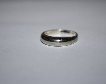 Size 8 Plane Jane Tapered Band Sterling Silver Ring