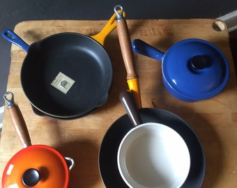 Le Creuset cookware vintage cookware in box New vintage Le creuset cookware 8 piece set