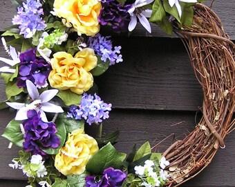 Front Door Wreath, Summer Wreath, Country wreath, Outside wreath, Barn Wreath, Wedding Wreath, All season wreath, summer wreath, wreaths