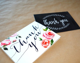 Thank You Cards with Envelopes - Set of 10