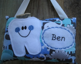 Tooth fairy pillow-Boys Tooth Fairy Pillow-Tooth Fairy Pillow for Boys-Tooth Certificate-Tooth Fairy-Personalized Tooth Pillow-Personalized