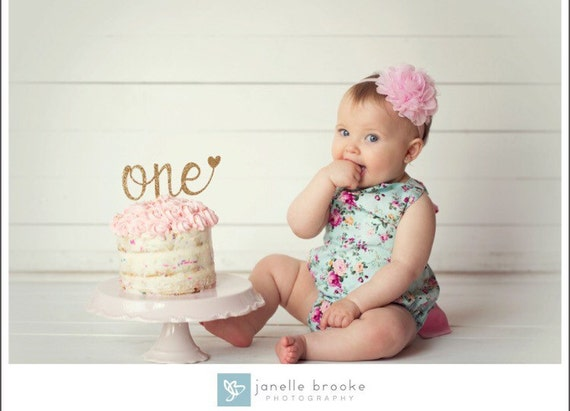Good Birthday Gift For 1 Year Old Baby Girl: One Cake Topper SALE First Birthday Girl Cake Topper 1st