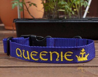 Personalised embroidered Dog Collars