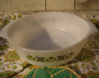 Fire King for Anchor Hocking Handled 1.5 Qt. Casserole Dish - Serving Dish for the Patio or Cabin
