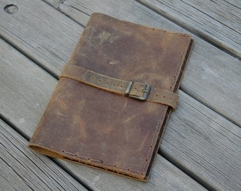 Handmade Leather Journal - Distressed Journal - 5*7 refillable