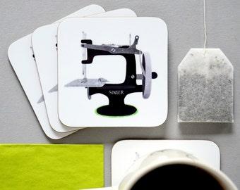 Singer Sewing Machine Coaster