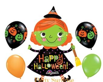 Halloween Witch Balloon Halloween Party Decorations Pumpkin Balloons Witch Balloons Kids Halloween Party Witch Balloon