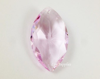8745 ROSALINE Swarovski Crystal Faceted Marquise Oval Pendant 38x22mm