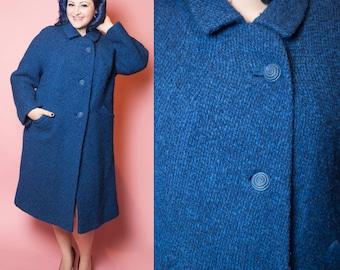 1960's Lochleigh Wool Tweed Shift Coat