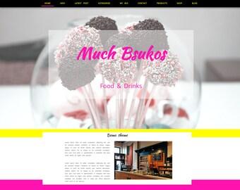 Premade Wordpress template, photography template, website and blog designer