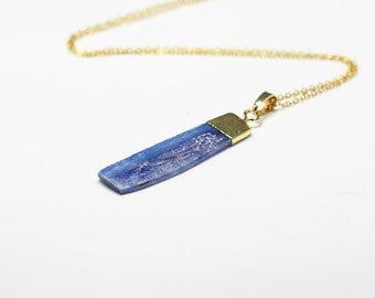 Raw Kyanite Necklaces -- Wholesale Charms Kyanite Jewelry Gemstone DJ
