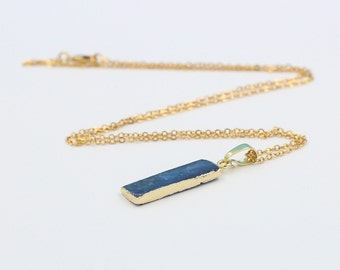 Kyanite Necklaces -- Wholesale Charms Kyanite bridesmaid necklaces Jewelry supplies wholesale Gemstone DJ