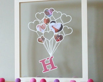 Baby's First Year Papercut (Unframed) - The Original Papercut for your baby's 0-12 month photos