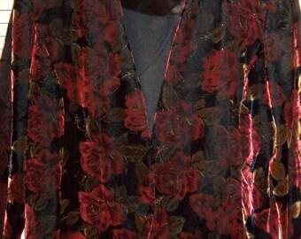 Jacket 20,  Maggie McNaughton Velvet Jacket- Gold Threads Size 20W