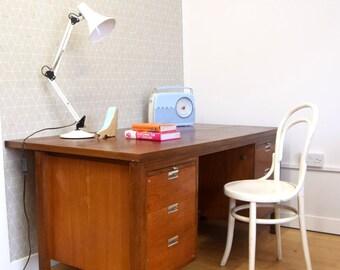 Twin Pedestal Desk / Office Desk / Workstation Vintage/ Retro / Industrial