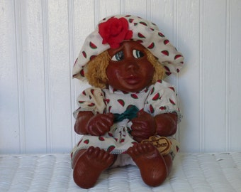 Vintage H.P. Naber Baby - 1995 Alma #109 - Handcarved Doll - Signed - Collectible - Suitable for Gifting - Adorable - Clean - So Unique