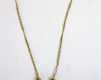 "Vintage Love Knot Necklace Dainty Gold Tone 16.5"""
