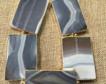 Gemstone natural agates beautiful shape beautiful natural color