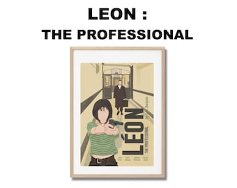 Léon : The Professional Movie Print - Poster Luc Besson A3