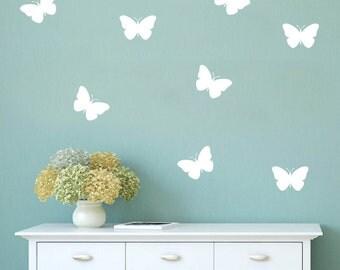 Set of 50 Butterfly Wall Stickers, Wall Pattern Decals, Wall Stickers, Butterfly Decals, Butterfly Stickers, Confetti Decal, Geometric shape