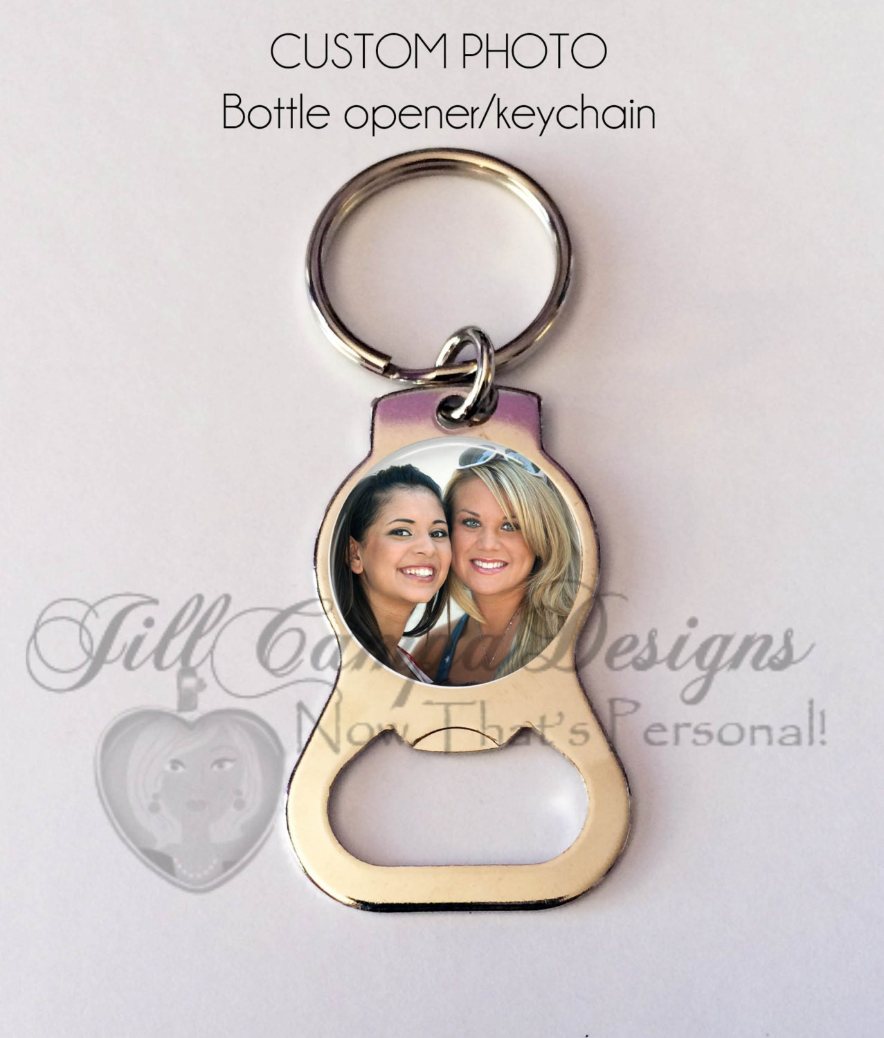 personalize bottle opener keychain photo key chain photo. Black Bedroom Furniture Sets. Home Design Ideas