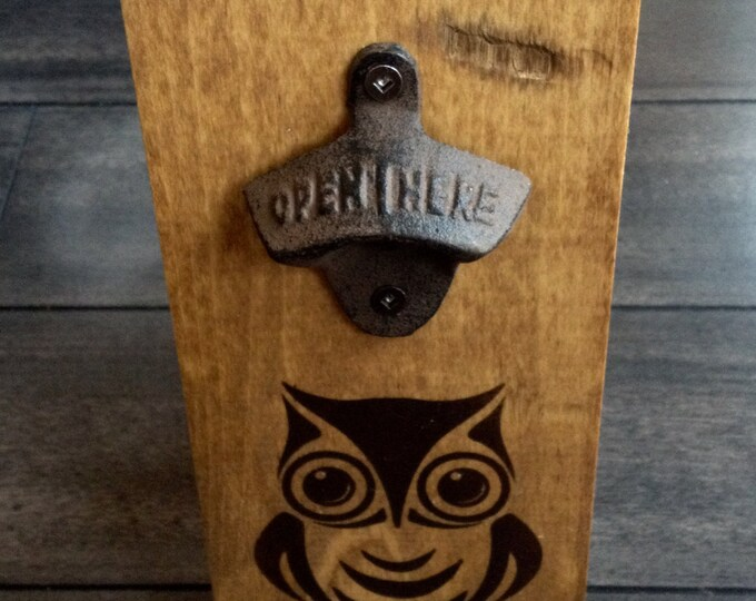 Wall Mounted bottles OPENER - Bob Marley Wake up and Live Open here Beer sign reclaimed Rustic vintage wood gift husband boyfriend birthday
