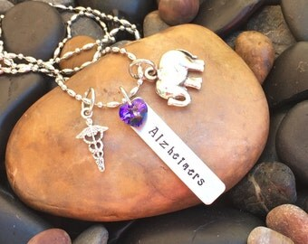 Alzheimer's Necklace | Alzheimer's Jewelry | Medical Alert Necklace | Medical Alert Jewelry | Alzheimer's Awareness Jewelry | Diagnosis Gift