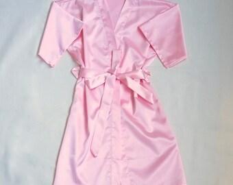 Kids Kimono -- Flower Girl Satin Robe -- little girl robes -- Flower Girl Gift Ideas -- kids robe child robe -- personalized flower girl