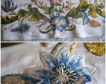 18th century silk embroidery, Georgian