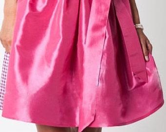 Mini dirndl skirt made of satin 59 cm strawberry pink for dirndl german dirndl dress apron