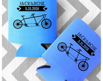 Two Seater Vintage Bicycle Customized Wedding Can Coolers - personalized can coolers - Free Shipping on all Coolers