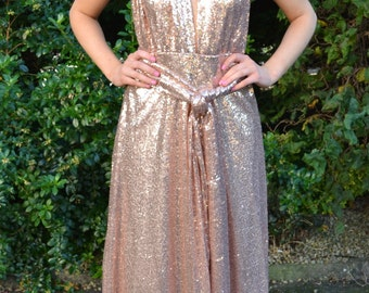 Sequin infinity dress - Ready to Wear 'Kira' wraparound multiway gown - wear it halter, backless, and more for bridesmaids, prom and events