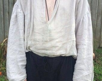 Pirate Shirt 100% Linen