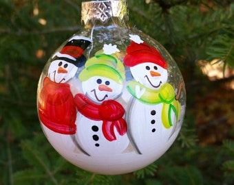 CUSTOM Family Personalized Snowman Ornament - YOU Design It!