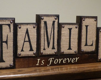 Family Name Sign Last Name Sign Rustic Bulap Family Is Forever Family