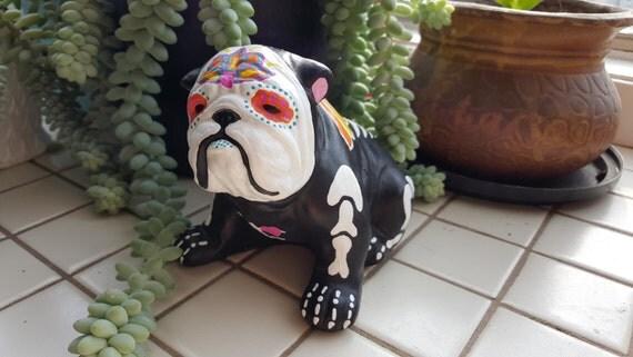Sugar Skull English Bulldog Day of the Dead Bulldog Angel