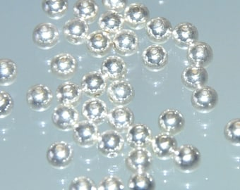 Vintage 5mm Silver Beads. 5mm Beads. Vintage Beads.  Small Round Beads. Small Silver Beads. Vintage Silver Beads. Jewelry-Making Supply.