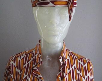 1960's Mod Dress Glenbrooke Polyester - Womens M