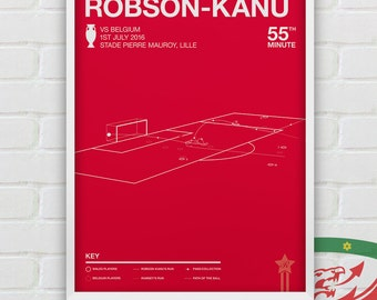 Hal Robson-Kanu vs Belgium Giclee Print -- [111]