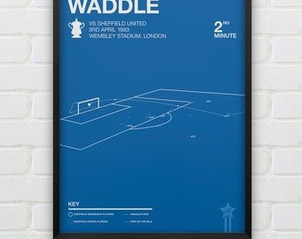 Chris Waddle - vs Sheffield United Giclee Print -- [92]