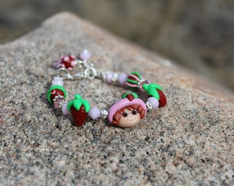 Girls Bracelet Strawberry Shortcake One of A Kind