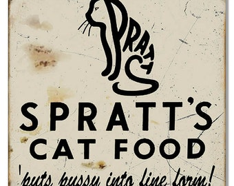 "Nostalgic Spratt's Cat Food 12""x12"" RG7311"